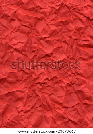 Red rippled paper sheet, for Christmas theme greeting card or backtground