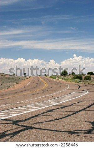Red road - stock photo