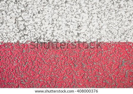 red Road markings texture. Background   - stock photo