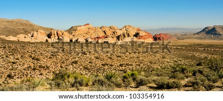 Red Rock Canyon National Conservation Area, Nevada, United States - stock photo