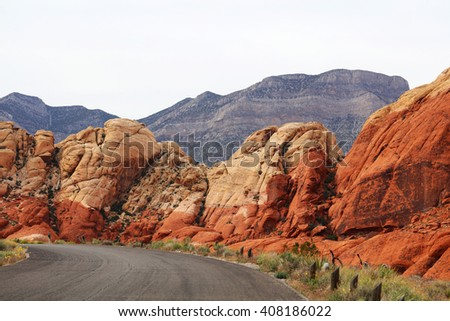 Red Rock Canyon National park near Las Vegas, Nevada, USA - stock photo