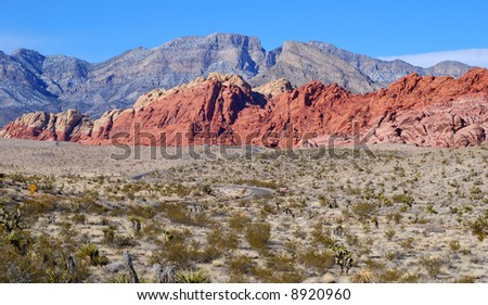 Red Rock Canyon Near Las Vegas Nevada - stock photo