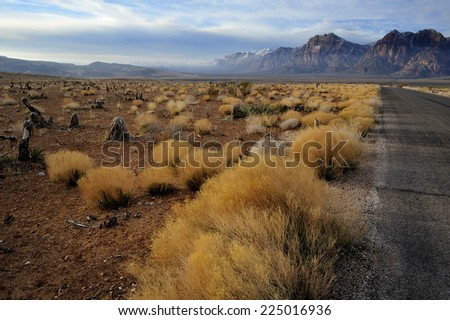 Red Rock Canyon near Las Vegas, Nevada USA - stock photo