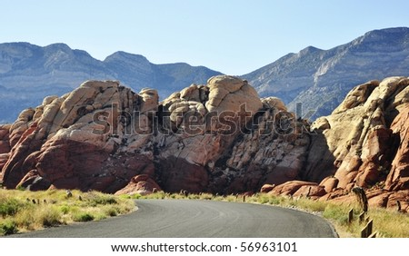 red rock canyon ,nevada - stock photo