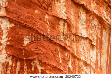 Red Rock Design Zion National Park - stock photo