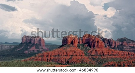 Red Rock formations south of Sedona, AZ - stock photo
