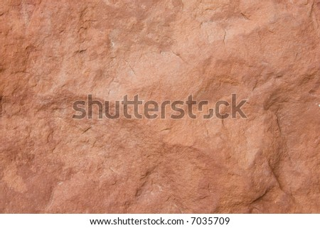 Red rock texture - stock photo