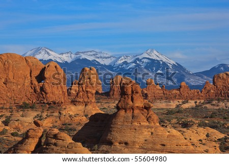 Red Rocks of Arches National Park Utah