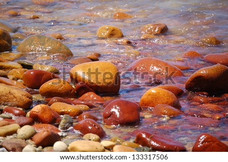 Red rocks that have vanished - stock photo