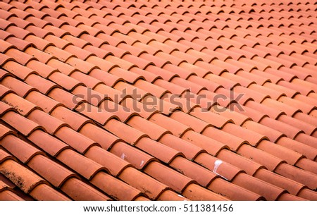 Red roof tiles or shingles on house as background image. Old and used overlapping red & Terracotta Roof Stock Images Royalty-Free Images u0026 Vectors ... memphite.com