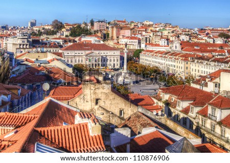 Red roofs in Lisbon