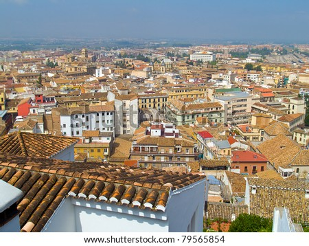 red roofs of Granada, Spain
