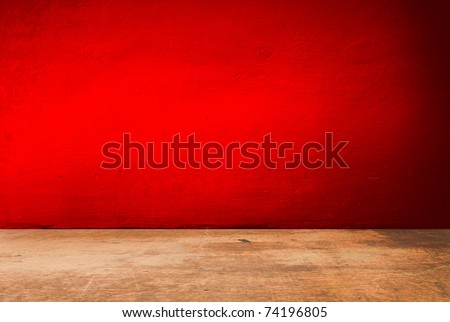 red room interior - stock photo