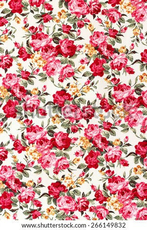 Red rose fabric on white background