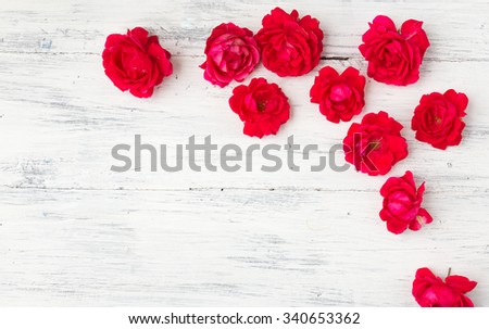 Red rose frame background. Valentines day background.