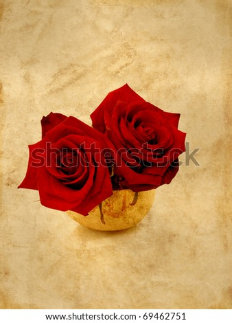Red roses textured