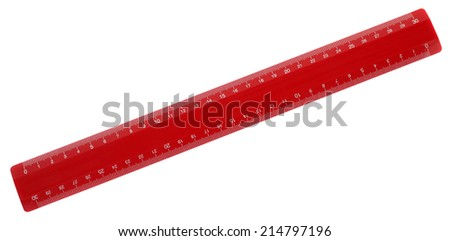 Red ruler - stock photo
