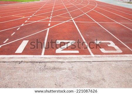 Red running track rubber standard