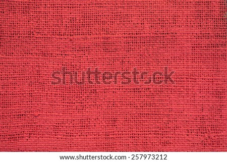 Red Sacking Background - stock photo