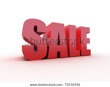 red sale text isolated on white