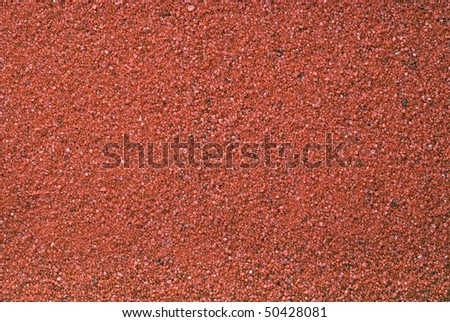 Red sand texture or background - stock photo