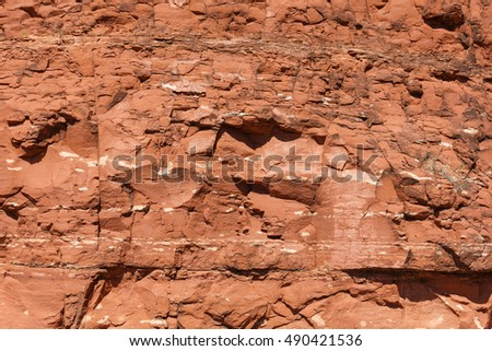 red sandstone texture pattern background for designers, Sedona, Arizona