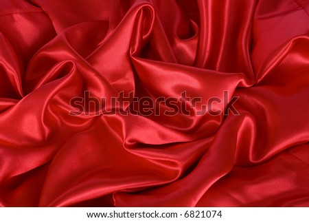 Red satin background - stock photo