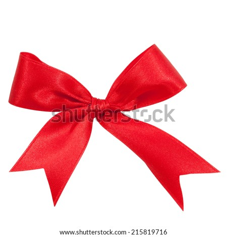 red satin gift bow ribbon, file includes a excellent clipping path