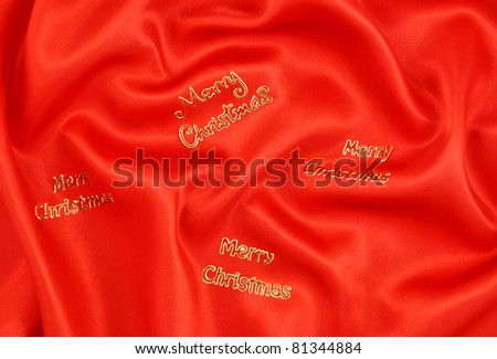 Red Satin Merry Christmas Background - stock photo
