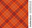red scottish checked fabric seamless pattern - stock photo