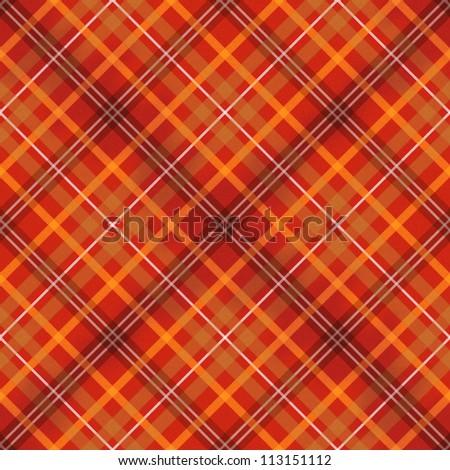 red scottish checked fabric seamless pattern - stock photo