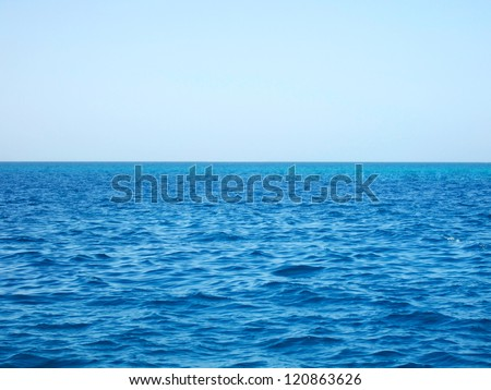 Red sea and blue sky, Egypt - stock photo
