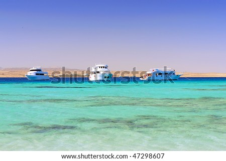 Red Sea. Yachts. Egypt.