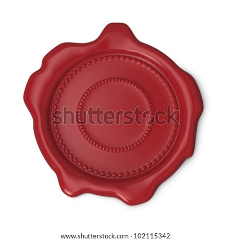 Red seal of approval on white background - stock photo