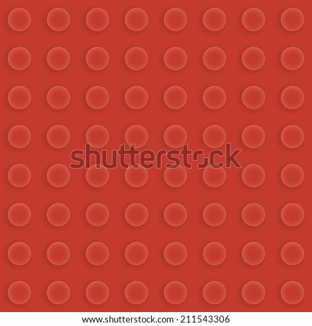 Red seamless construction brick pattern - stock photo