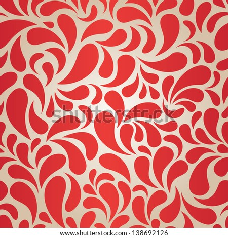 Red seamless pattern - stock photo