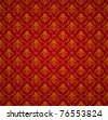 Red Seamless wallpaper pattern, bitmap copy - stock photo