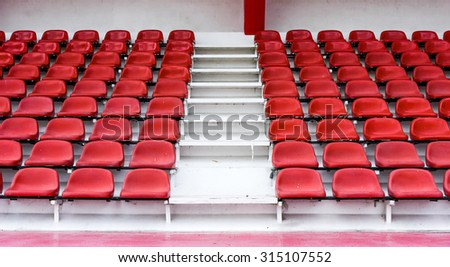 red seat - stadium row group nobody section sport arena