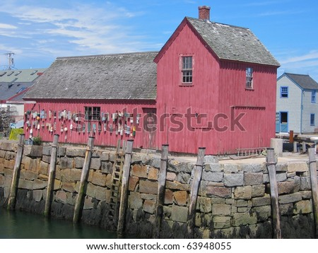 Red Shack - stock photo