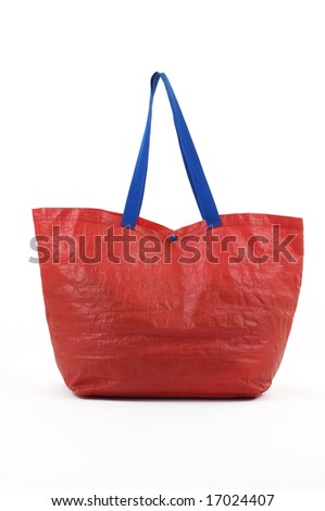 Red shopping bag - stock photo