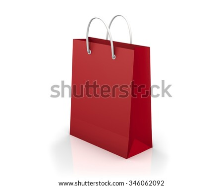 Red shopping bags