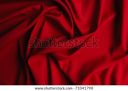Red silk - stock photo