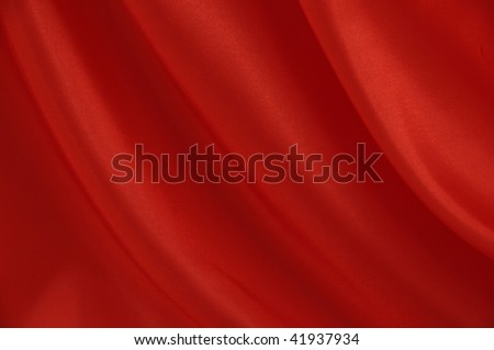 Red silk - background texture - stock photo