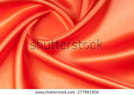 Red silk fabric tecture.  for Drapery Abstract Background. Smooth elegant red silk.  - stock photo