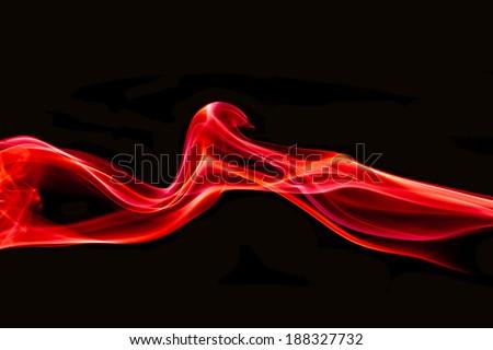 red smoke lighting abstract - stock photo