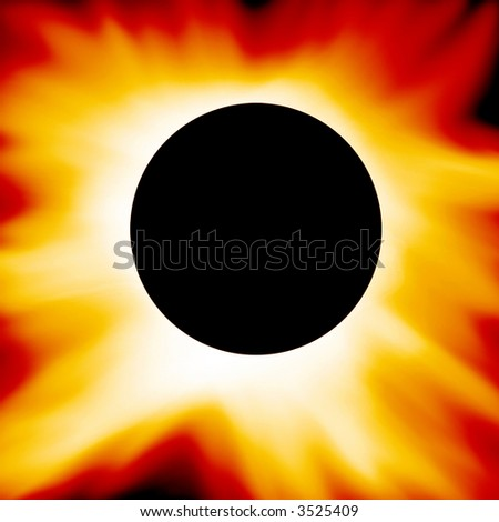Red solar eclipse - stock photo