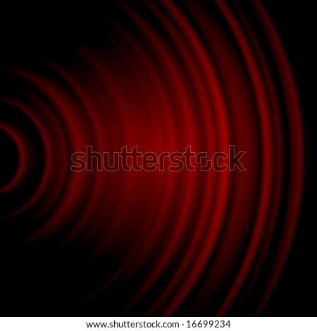 Red Soundwave - stock photo