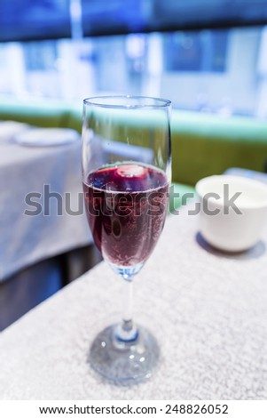 red sparkling wine - stock photo