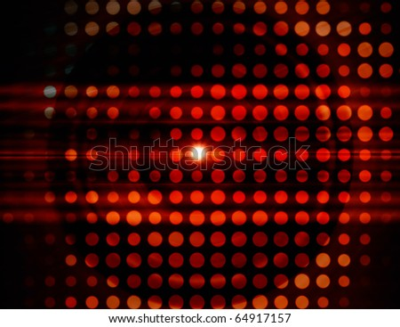 Red sparks, abstract background