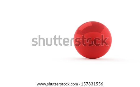 Red sphere concept rendered isolated on white background